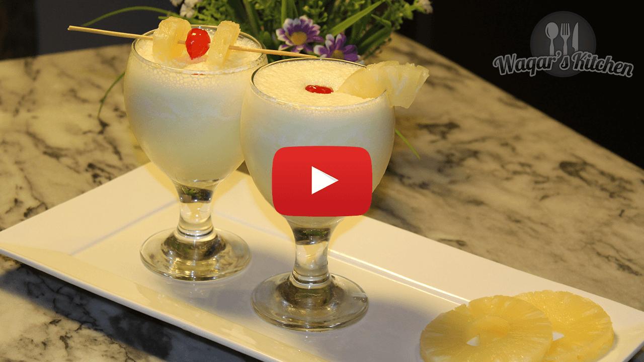 Pineapple Milkshake Recipe Waqar S Kitchen