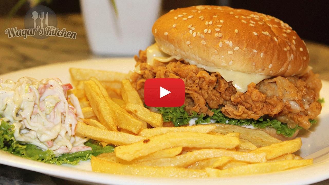 Continental archives waqars kitchen chicken zinger burger recipe forumfinder Images